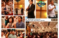 St Andrew's Brunei May 2013 with Rev Johnny Chin